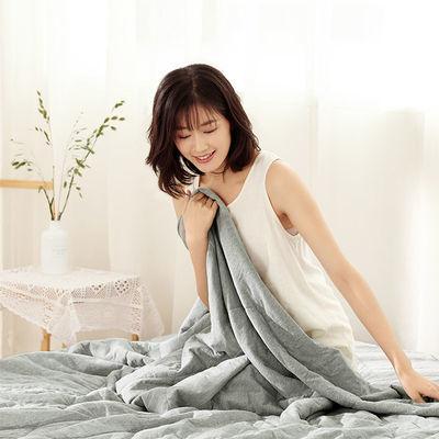 8H超凉感薄被夏凉被小米生态链企业纯棉单双人空调被可水洗夏被