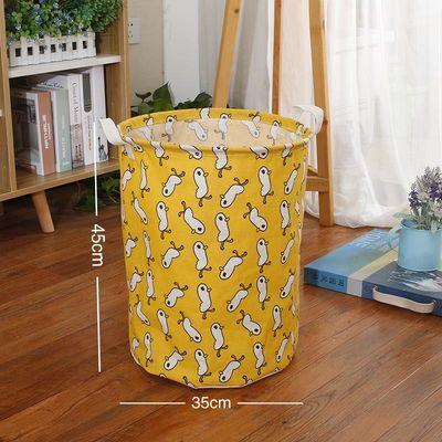 棉麻特大号脏衣篮玩具收纳桶脏衣篓折叠衣服收纳筐防水布艺洗衣篮