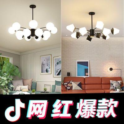 北欧风格客厅灯客厅吊灯魔豆灯现代简约新款个性家用餐厅卧室灯具