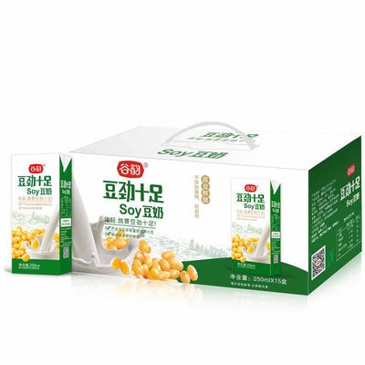 谷韵豆劲十足豆奶饮料250ml*15/12/10盒礼盒学生早餐奶饮品