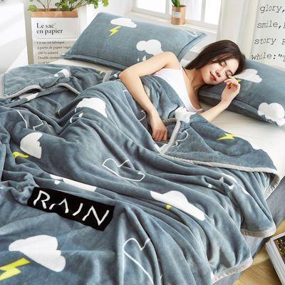 夏季毛毯床单件被单垫加厚加绒双人珊瑚绒毯子法兰绒四季盖毯被子