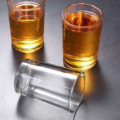 餐厅钢化玻璃杯耐温啤酒杯KTV饭店用杯水杯斜身高款消毒专用125m