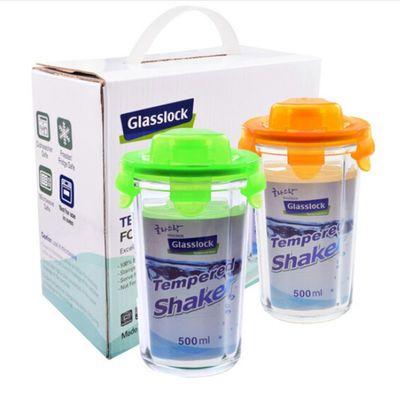 三光云彩glasslock钢化玻璃杯子水杯茶杯500ml*2两件套GL2-07