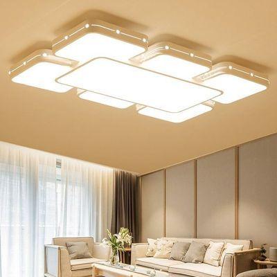 客厅灯长方形简约现代led吸顶灯创意卧室灯大厅灯具套餐三室两厅