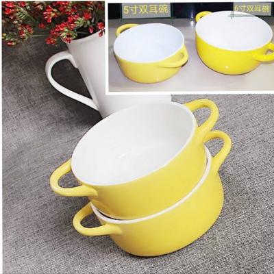 瓷都陶瓷水蒸蛋双皮奶碗双耳碗烤碗家用儿童饭餐碗面碗水果碗包邮