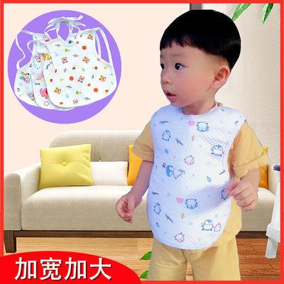 大号系带式宝宝围嘴新生儿纯棉口水巾婴儿童吃饭防水饭围兜夏季薄