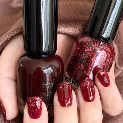 2大瓶组合ins网红泫雅色速干指甲油持久防水不可剥免烤套装