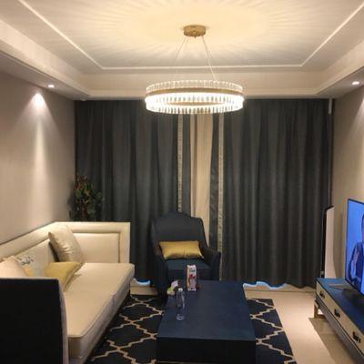 北欧客厅吊灯家用圆形简约后现代轻奢卧室水晶灯创意个性餐厅吊灯