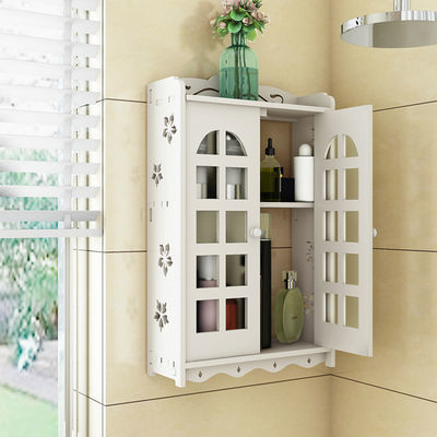 74450/免打孔卫生间置物架收纳架厨房墙上厕所浴室壁挂吸壁收纳盒悬挂架
