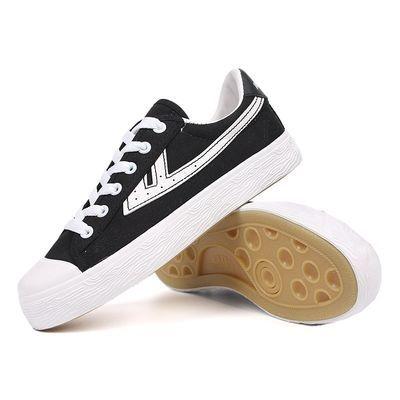 新款正品回力外贸鞋男鞋休闲运动鞋黑白色低帮帆布鞋平底百搭女鞋