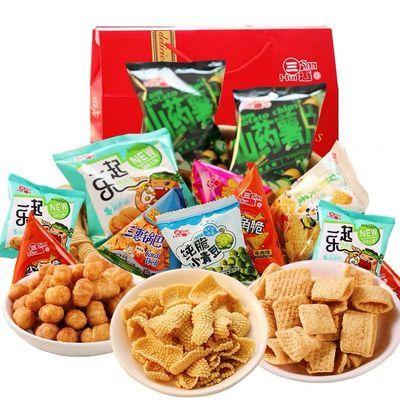 三惠年货零食大礼包送女友儿童礼物饼干薯片薯条食品批发365g等