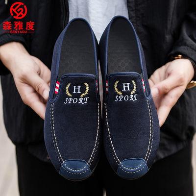 森雅度男鞋休闲布鞋轻便男士单鞋休闲鞋老北京布鞋男豆豆鞋单鞋男