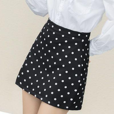 短裙女波点半身裙小个子学生韩版高腰短裙仙女一步裙包臀裙夏短款