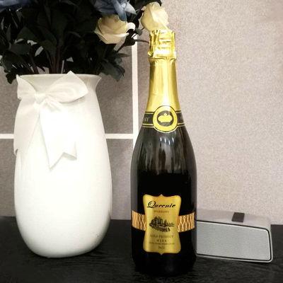 可以喷的酒O香槟起泡酒甜白葡萄酒婚礼香槟酒750ml单支两瓶礼盒装