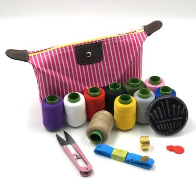 手缝线手工缝衣针线盒套装收纳盒便携式家用针线包大号套装多功能