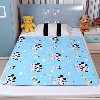 用品月经垫夏季婴儿纯棉隔尿垫大号防水透气可洗尿布新生儿童宝宝