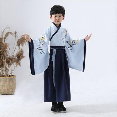 汉服男童儿童古装中国风古代服装国学服小书童六一儿童演出服汉服