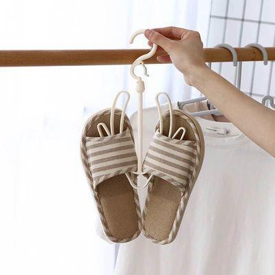 防风双钩阳台多用挂鞋子的衣架挂钩晾鞋架子晾晒架收纳晒鞋架创意