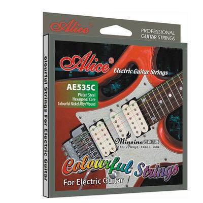 Alice爱丽丝 电吉他琴弦 AE535C彩色电吉他弦 009吉他琴弦套