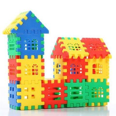 3-9岁儿童数字方块塑料积木大块房屋益智拼插幼儿园DIY拼图装玩具