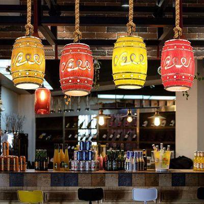 复古个性创意酒吧美式餐厅灯茶楼咖啡厅甜品店ktv吧台啤酒桶吊灯
