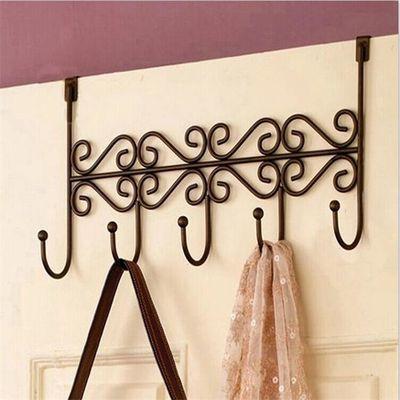 免打孔门后挂钩强力贴承重粘胶挂衣架钩子沾勾壁挂排墙上卫生间
