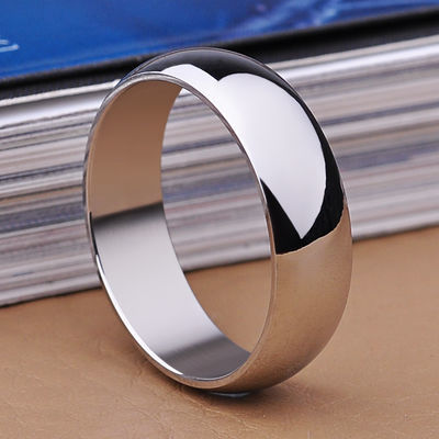 韩版钛钢简约光面戒指男士个性网红指环日韩情侣学生食指尾戒指环