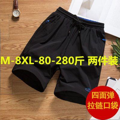 短裤男夏天加肥加大码休闲宽松肥佬运动速干五分裤沙滩裤大裤衩潮