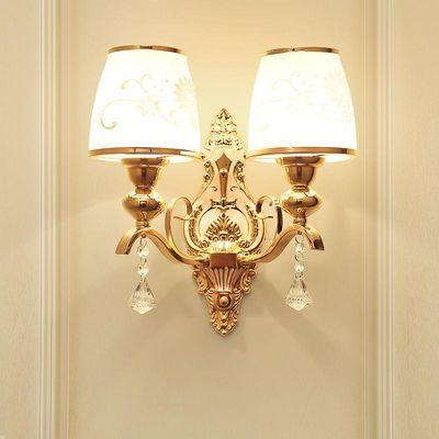 欧式创意现代简约led水晶壁灯卧室床头灯过道客厅背景墙壁灯灯具