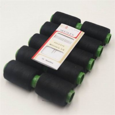 402型衣物缝纫线针线包家用针线套装手缝线10色简装-送16枚金尾针