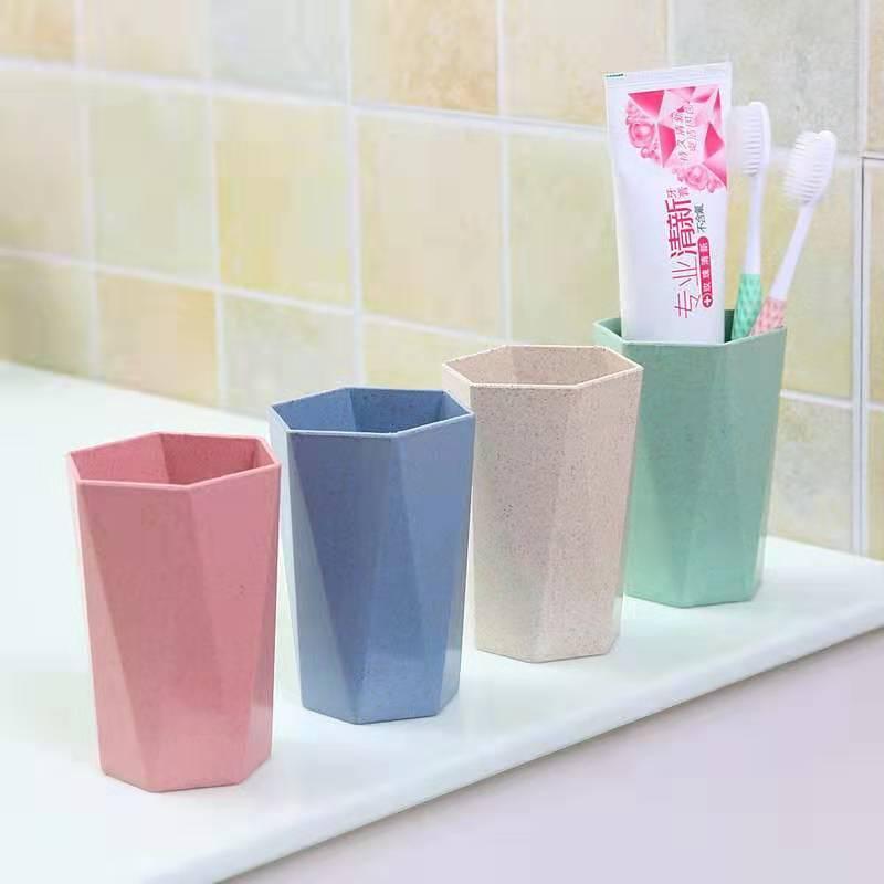 小麦漱口杯刷牙杯牙刷杯家用情侣麦香喝水杯