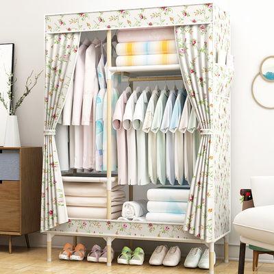 简易衣柜挂衣柜学生宿舍单人寝室小衣橱置物收纳柜衣架钢管布衣柜