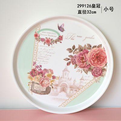 密胺托盘水杯托盘加厚茶盘家用托盘欧式茶盘水果盘塑料盘蛋糕盘