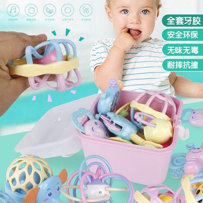 婴儿玩具3-6-12个月新生儿摇铃0-1岁宝宝益智早教幼儿手摇铃牙胶