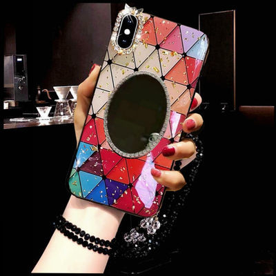 OPPOreno4/3/2z菱形a92s手机壳a11x镜子a91/k5软r17/a9潮a52女r17
