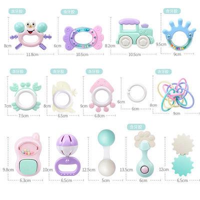 婴儿手摇铃玩具0-6-12个月新生幼儿男女孩宝宝益智牙胶磨牙玩具