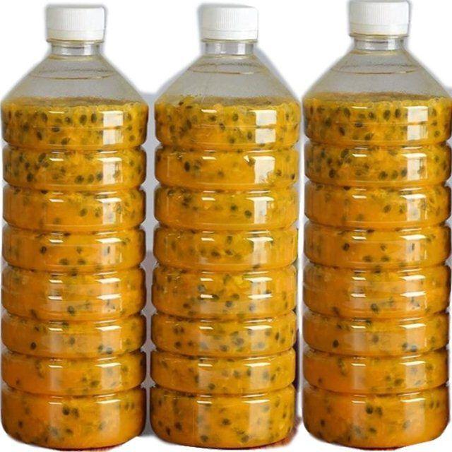 广西新鲜百香果原浆果酱百香果肉 瓶装 新鲜果酱冷冻百香果汁8斤_1