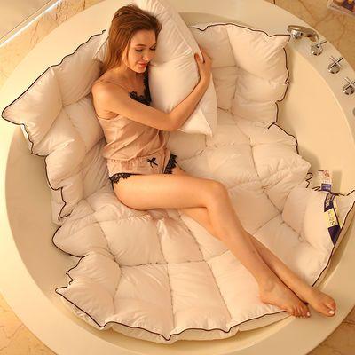 (送被套)五星级酒店羽丝绒被芯加厚保暖95白鹅绒冬被子春秋棉被子