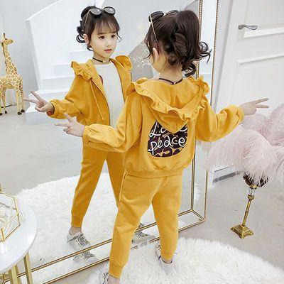 女童秋装套装洋气两件套休闲运动网红时髦儿童装2020新款中大童潮