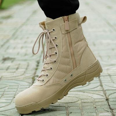 新款爆款作战靴军靴男女特种兵作训靴战术靴超轻春秋户外登山靴沙