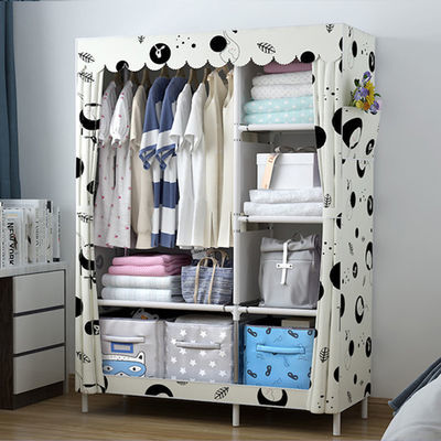 简易衣柜挂衣柜儿童收纳柜小型布衣柜成人单人双人挂衣橱简易衣橱