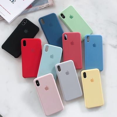 液态硅胶苹果x手机壳ins网红苹果plus8/6/7手机壳iphoneXSMax简约