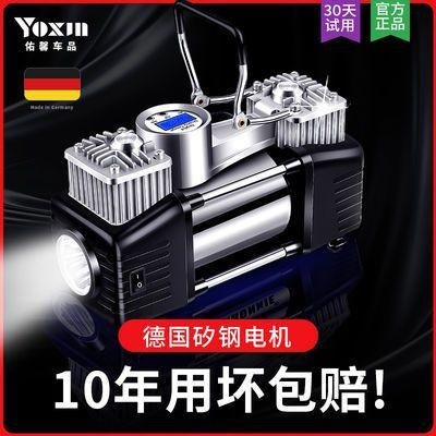 新款汽车充气泵车载双缸大功率便携式应急12V轮胎打气泵通用型