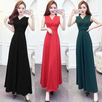 新款晚礼服裙子平时可穿宴会气质高贵名媛气场女王礼服连衣裙长裙