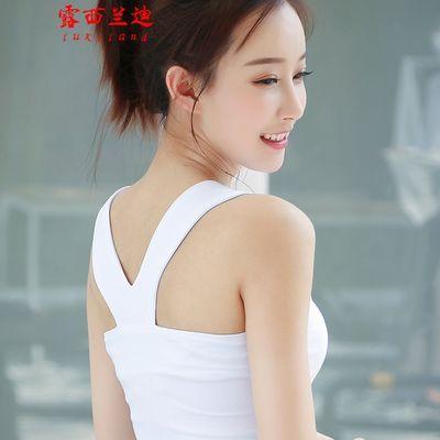 高端纯棉工字吊带背心女春夏季新款纯棉常规性感露背上衣打底衫女