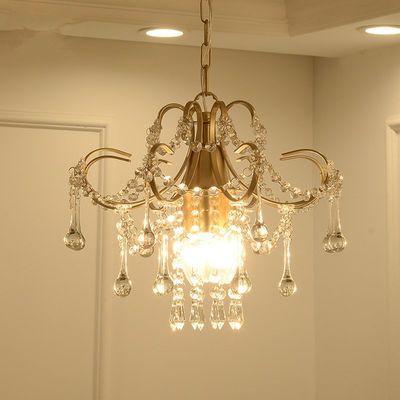 欧式吊灯美式水晶吸顶小吊灯现代简约迷你玄关过道走廊餐厅水晶灯