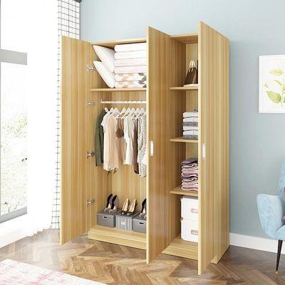 衣柜简约现代经济型组装实木板式租房宿舍简易单人双人家用小柜子
