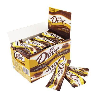 德芙礼盒装丝滑牛奶巧克力14g*16条合计224g比碗装更便宜办公休闲