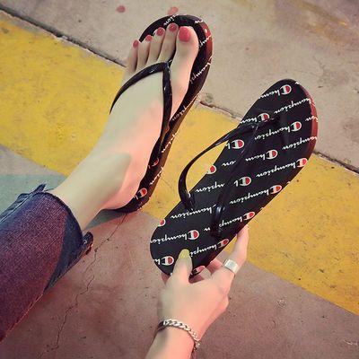 人字拖鞋女外穿平底凉拖夏时尚防滑百搭夹脚拖鞋海边沙滩鞋女夹拖