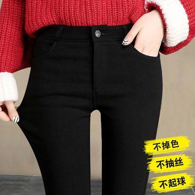 新款打底裤女外穿紧身韩版高腰小脚铅笔裤薄款加绒魔术裤黑色裤子